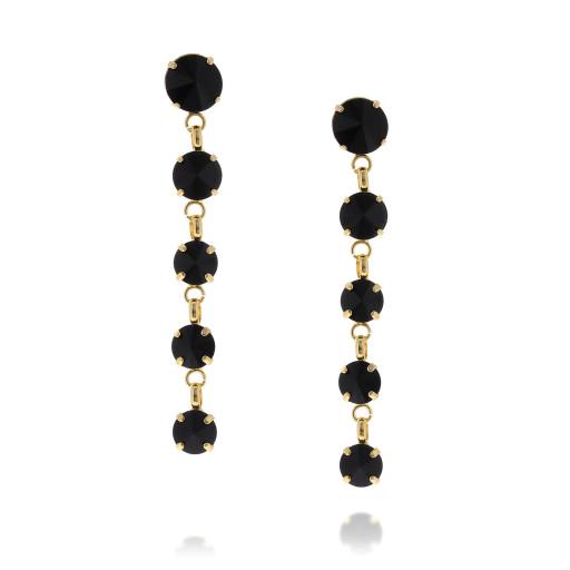 5 Tier rovoli earrings Hina jet drops far krystal london front on.jpg