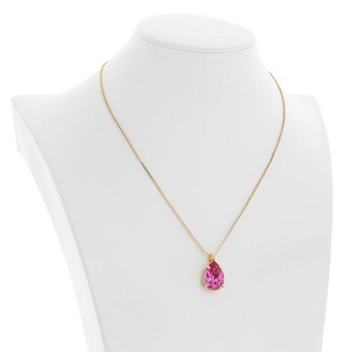 Peach Rose Necklace-Crystal Swarvoski pendant rosee.jpg