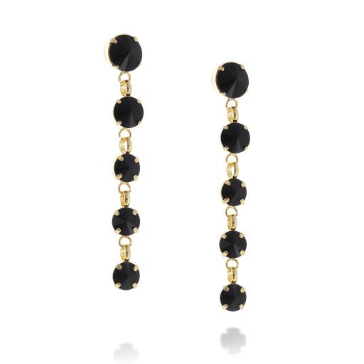 5 Tier rovoli earrings Hina jet drops far krystal london side on.jpg