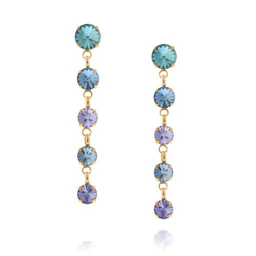 5 Tier rovoli earrings Hina rain drops far krystal london Front on.jpg