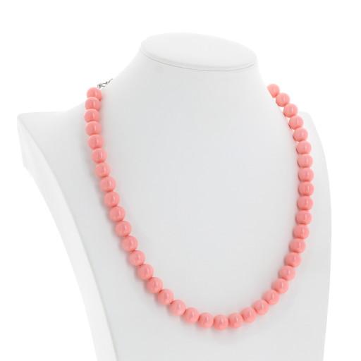 Pink Coral Pearl Necklace Krystal side on London_.jpg