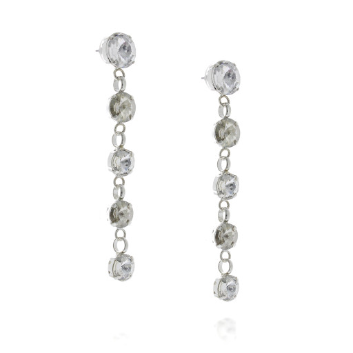 5 Tier rovoli earrings Hina Red white clear drops far krystal london far side on.jpg