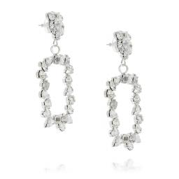 large frame geometric statment earrings Crystal Clear square abstract dangle drop far side on.jpg