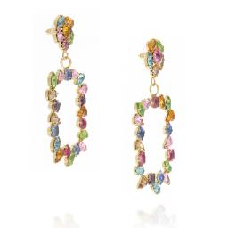 large frame geometric statment earrings multi coloured square abstract dangle drop  far side on.jpg