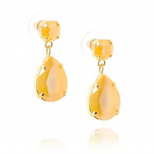 mini angelina crystal buttercup earrings crystal far side on.jpg