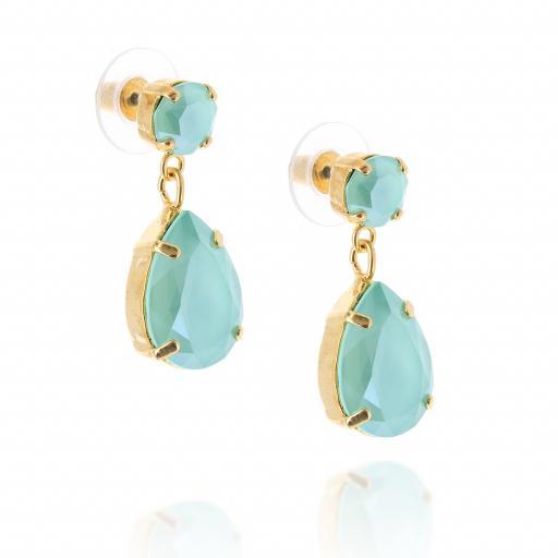 mini angelina crystal Mint gold earrings crystal far side on.jpg