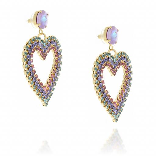 large drop statment heart earrings multi coloured far side on.jpg