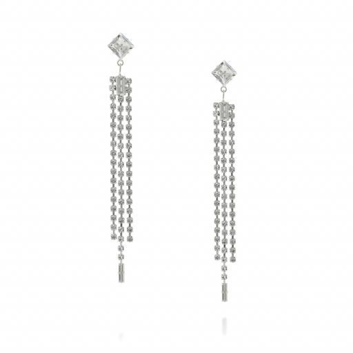Crystal Clear Chandelier Earrings