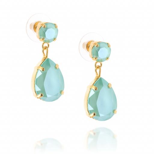 mini angelina crystal Mint gold earrings crystal side on.jpg