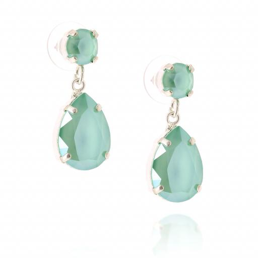mini angelina crystal buttercup earrings silver crystal side on.jpg