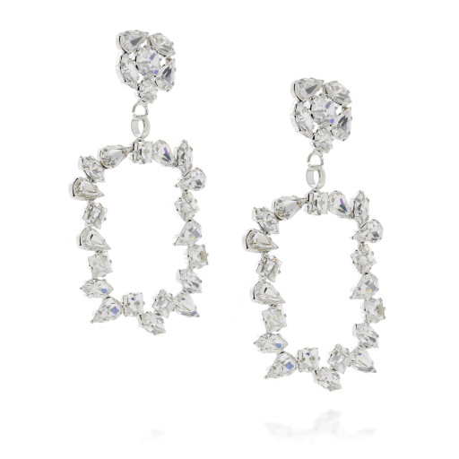 large frame geometric statment earrings crystal clear square abstract dangle drop side on.jpg