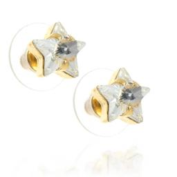 smalll star crysatl clear earrings Krystal London Gold Plated Swarovski side on.jpg
