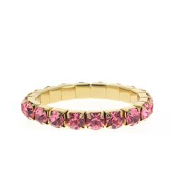 Fushia Gold plated bracelet krystal london swarovski single band bracelet.jpg
