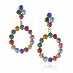 long dangle drop circular multi coloured earrings krystal london side on.jpg