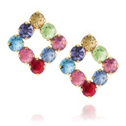 Diamond Multi Coloured Earrings