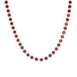 Bespoke Chunky Single strand swarovski crystal necklace Krystal  scarlet red necklace only silver plated.jpg