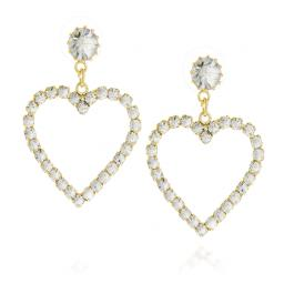 Open Sweetheart Statement Earrings