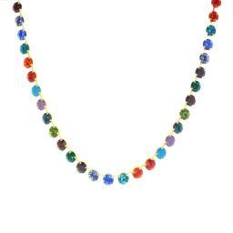 Bespoke Chunky Single strand swarovski crystal necklace Krystal  multi colour mix necklace only.jpg