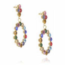 z long dangle drop circular multi coloured earrings krystal london far side on.jpg