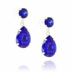 majestic blue silver plated krystal london mini angelina earrings side on.jpg