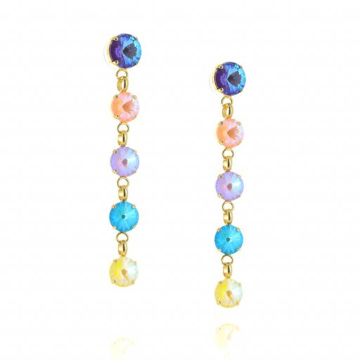 5 Tier rovoli earrings Summers Day drops far krystal london side on.jpg