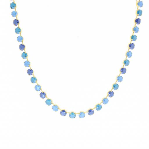 Single Row Mixed Swaroski Crystal Necklace
