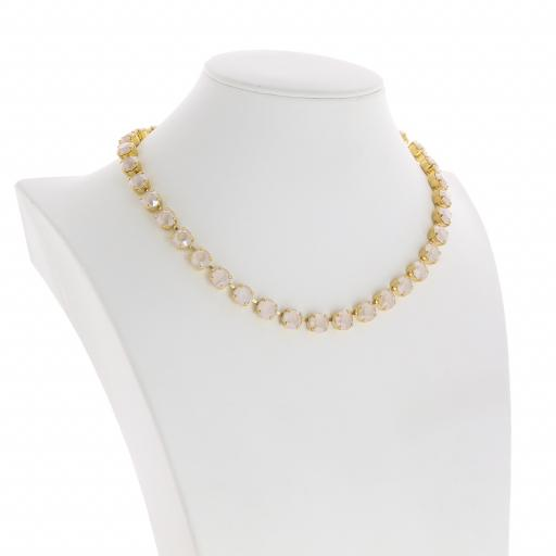 Bespoke Chunky Single strand swarovski crystal necklace Krystal Ivory side on.jpg