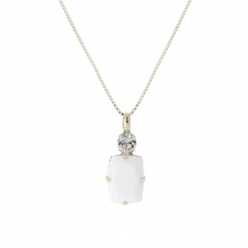 Valentina Square Drop Necklace.