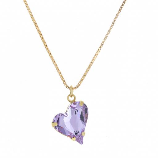 Big heart necklace purple 17mm-25mm Krystal London Gold Plated Swarovski.jpg