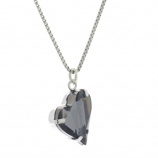 Big heart necklace black 17mm-25mm Krystal London Gold Plated Swarovski 22.jpg