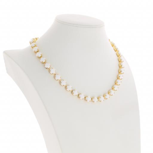 Bespoke Chunky Single strand swarovski crystal necklace Krystal white chalk side on.jpg