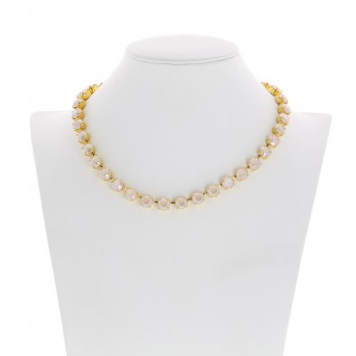 Bespoke Chunky Single strand swarovski crystal necklace Krystal Ivory front on.jpg