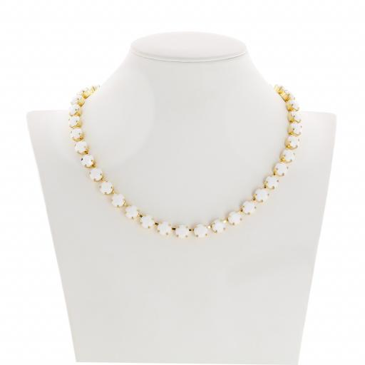 Bespoke Chunky Single strand swarovski crystal necklace Krystal white chalk front on.jpg