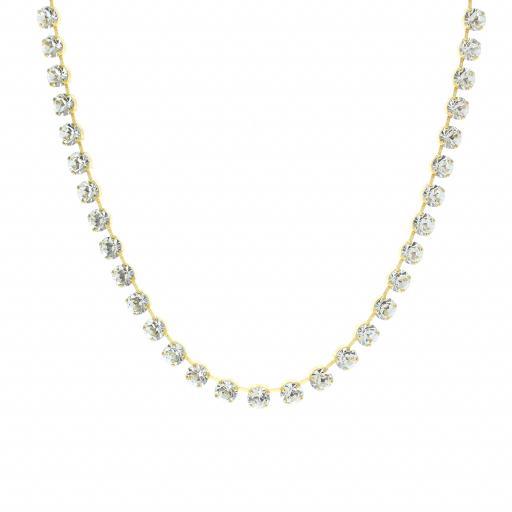 Bespoke Chunky Single strand swarovski crystal necklace Krystal Crystal Clear necklace.jpg