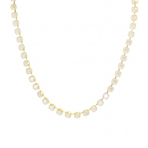 Bespoke Chunky Single strand swarovski crystal necklace Krystal Ivory necklace only.jpg