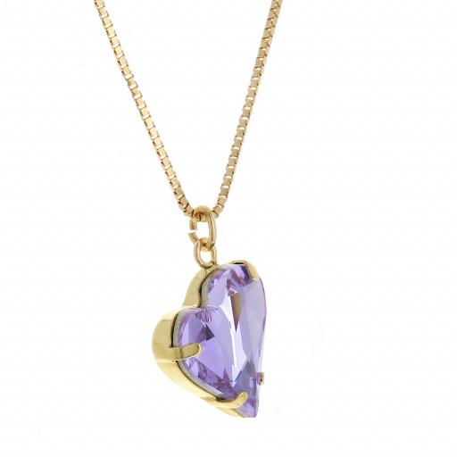 Big heart necklace purple 17mm-25mm Krystal London Gold Plated Swarovski 111.jpg