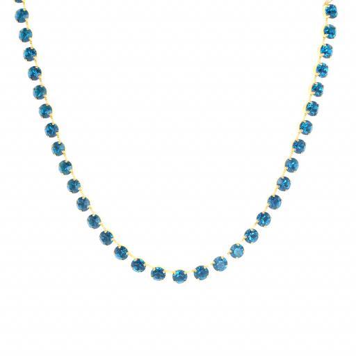 Bespoke Chunky Single strand swarovski crystal necklace Krystal Blue Zurk necklace only.jpg