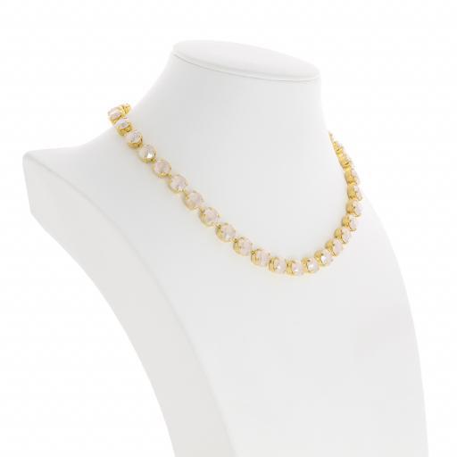 Bespoke Chunky Single strand swarovski crystal necklace Krystal Ivory far side on.jpg