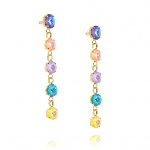 5 Tier rovoli earrings Summers Day drops far krystal london far side on.jpg