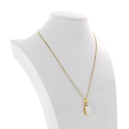 valentina square rectangle necklace white chalk  krystal london swarovski far side on.jpg