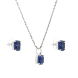 rough sapphire crystal set necklace and earrings krystal london gold plated front on.jpg