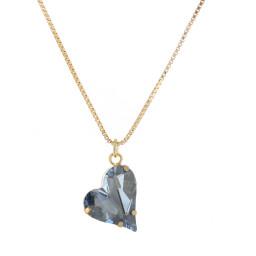Big heart necklace blue 17mm-25mm Krystal London Gold Plated Swarovski front on.jpg