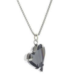 Big heart necklace black 17mm-25mm Krystal London Gold Plated Swarovski 22.jpg