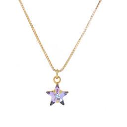 smalll star purple rainbow necklace Krystal London Gold Plated Swarovski front on.jpg