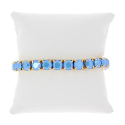 Summer Blue Gold plated bracelet krystal london swarovski single band.jpg