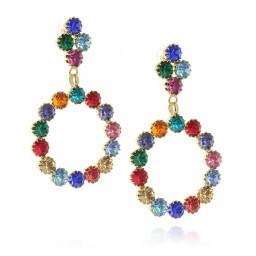 long dangle drop circular multi coloured earrings krystal london side on.jpg