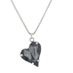 Big heart necklace black 17mm-25mm Krystal London Gold Plated Swarovski new.jpg