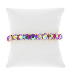 Siam Shimmer Gold plated bracelet krystal london swarovski single band bracelet cushion.jpg
