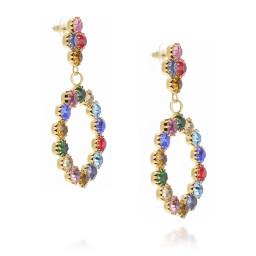 z long dangle drop circular multi coloured earrings krystal london far side on.jpg