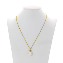 valentina square rectangle necklace white chalk  krystal london swarovski front side on.jpg